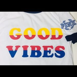 Victoria's Secret Good Vibes Shirt Medium